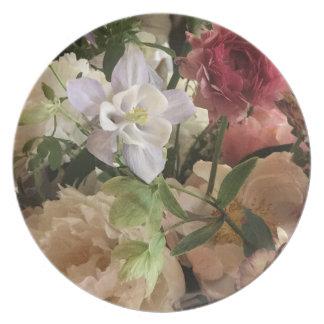 Romantic Floral Melamine Plates