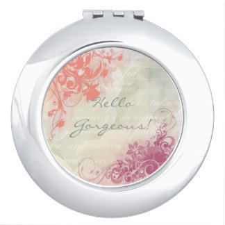Romantic floral mirrors for makeup