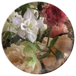 Romantic Floral Plate