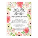 """Romantic Floral Post Wedding Invite 5"""" X 7"""" Invitation Card"""