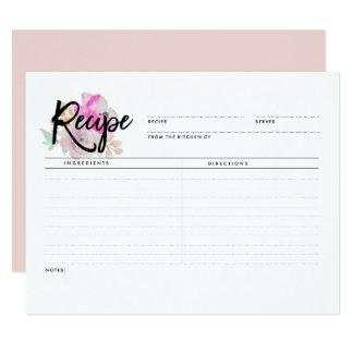 Romantic Floral   Recipe Cards