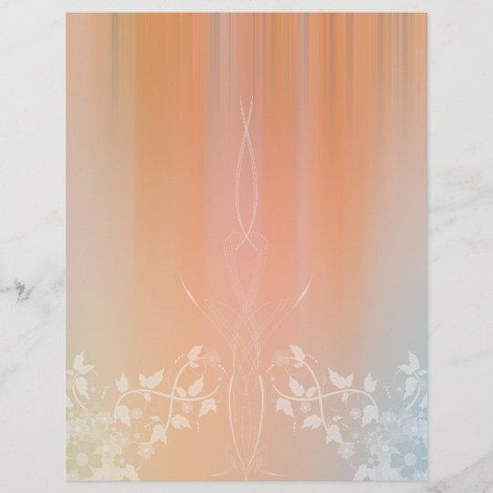Romantic Floral Scrapbook Paper Design Zazzle