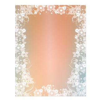 Romantic Floral scrapbook paper design Letterhead
