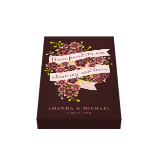 Love Quotes On Canvas Custom Romantic Quotes Wrapped Canvas Prints  Zazzle