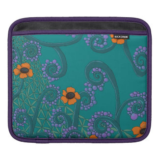 Romantic Floral Teal iPad Sleeve