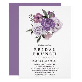 Romantic Floral Watercolor Spring Bridal Brunch Card