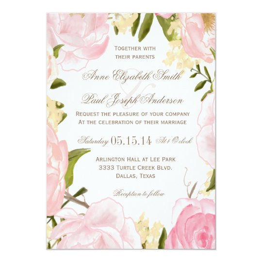 cute floral wedding invitations 39 for your card design ideas with, Wedding invitations