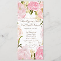 Romantic floral Wedding Program