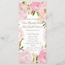 Romantic floral Wedding Program