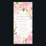 """Romantic floral Wedding Program<br><div class=""""desc"""">These wedding programs are perfect for any garden or rustic wedding with a romantic touch. Some elements from: www.createthecut.com.</div>"""