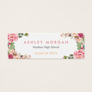 Romantic Floral Wrapped Graduation Insert Card