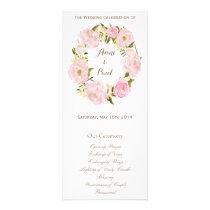 Romantic floral wreath monogram program