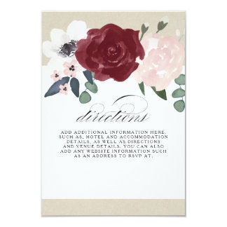 Romantic Florals Directions Card