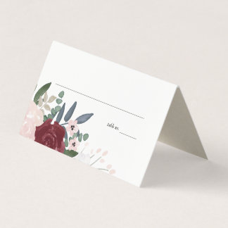 Romantic Florals, Place Cards