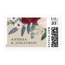 Romantic Florals Postage Stamp