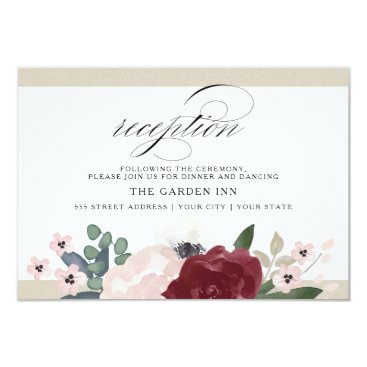 Whimzy_Designs Romantic Florals Reception Card