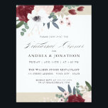 """Romantic Florals Rehearsal dinner invite<br><div class=""""desc"""">Romantic florals rehearsal dinner invite. Customizable. Part of a wedding collection</div>"""