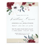 Romantic Florals Rehearsal dinner invite<br><div class='desc'>Romantic florals rehearsal dinner invite. Customizable. Part of a wedding collection</div>
