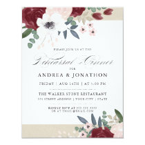 Romantic Florals Rehearsal dinner invite