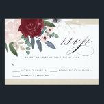 """Romantic Florals RSVP Card<br><div class=""""desc"""">3.5 x 5 Romantic Florals RSVP response card. Customizable. Part of a wedding collection</div>"""