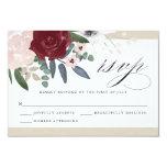 Romantic Florals RSVP Card<br><div class='desc'>3.5 x 5 Romantic Florals RSVP response card. Customizable. Part of a wedding collection</div>