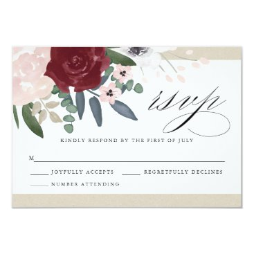 Whimzy_Designs Romantic Florals RSVP Card