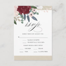 Romantic Florals RSVP with Menu