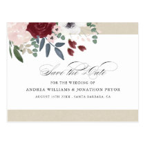 Romantic Florals Save the Date Postcard