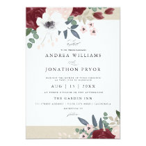 Romantic Florals Wedding Invitation