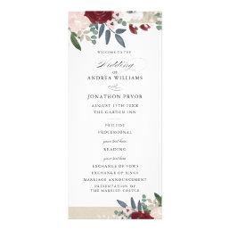 Romantic Florals Wedding Program