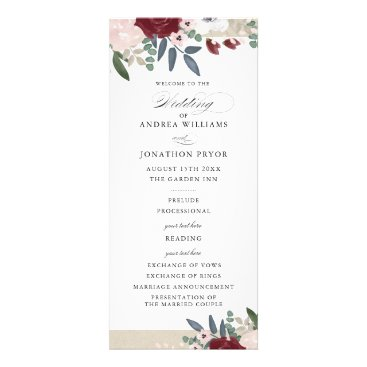 Whimzy_Designs Romantic Florals Wedding Program