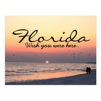 Romantic Florida sunset - Wish you were here Post Card