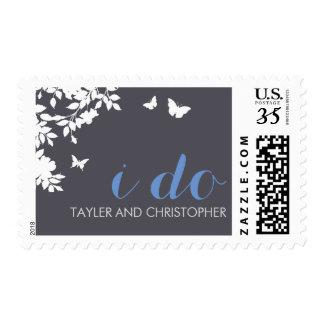 Romantic Flower Border | Wedding Postage Stamps