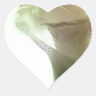 Romantic Flower Detail Heart Sticker