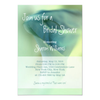 Romantic Flower in Blue Tones - Bridal Shower Card