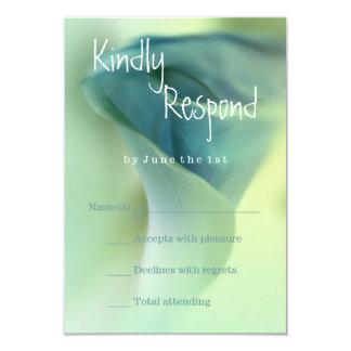 Romantic Flower in Blue Tones RSVP Card