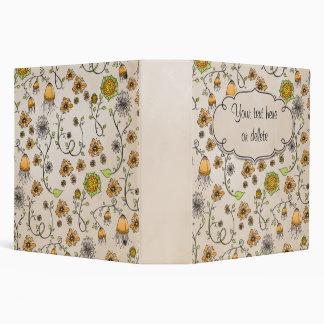 Romantic flower pattern binder