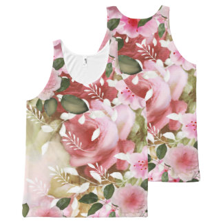 Romantic flowers All-Over print tank top