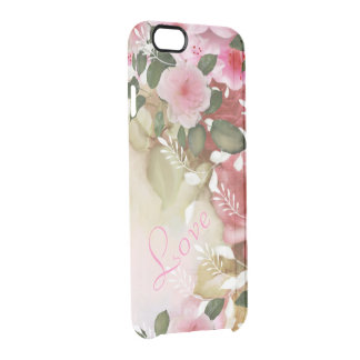 Romantic flowers funda clearly™ deflector para iPhone 6 de uncommon