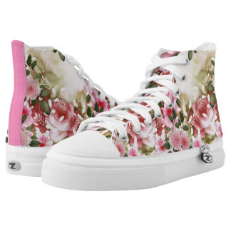 Romantic flowers printed shoes