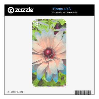 Romantic Flowers Skin For iPhone 4S