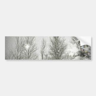 Romantic Forest Christmas trees Winter Wedding Bumper Sticker
