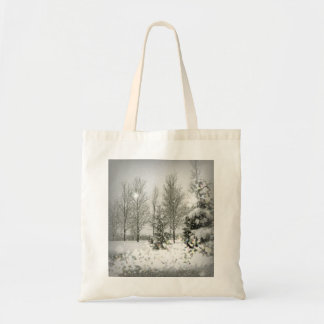 Romantic Forest Christmas trees Winter Wedding Tote Bag
