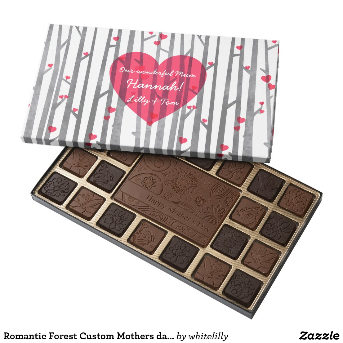 Romantic Forest Custom Mothers day Chocolate Box