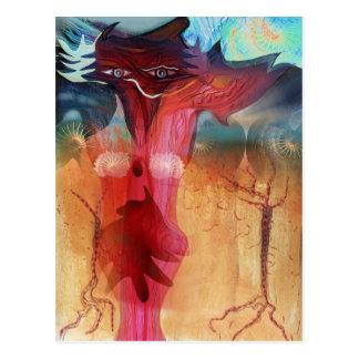 Romantic fox postcard