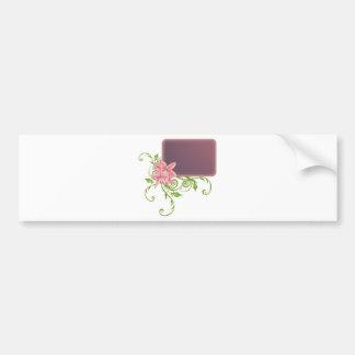 romantic_frame etiqueta de parachoque