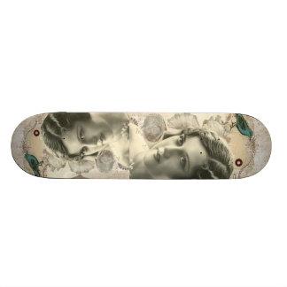 romantic french bird great gatsby girl fashionista skateboard
