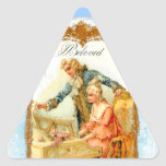 Romantic French Couple & Harpsicord Stickers
