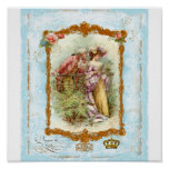 Romantic French Couple Regency Style Print