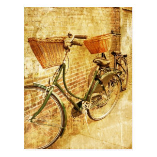 Romantic French Modern Vintage Paris Bicycle Postcard